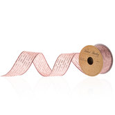 Rose Gold Glitter Dot Dashes Ribbon - 1 1/2""